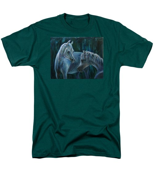 Men's T-Shirt  (Regular Fit) featuring the painting Whispering... by Xueling Zou