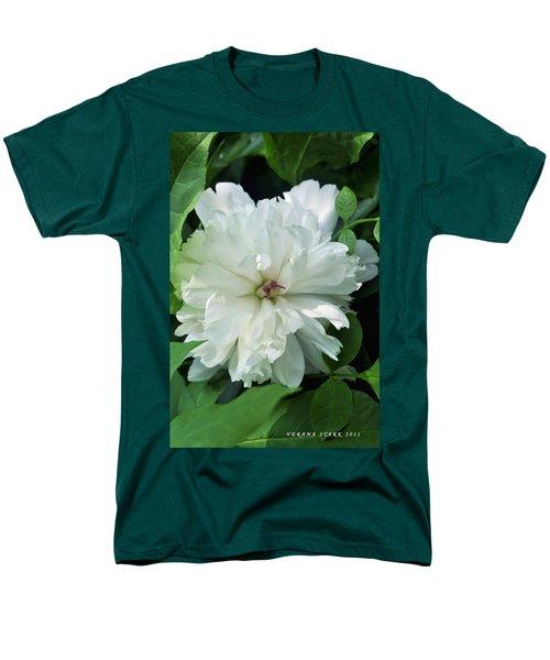 Men's T-Shirt  (Regular Fit) featuring the photograph White Peonese by Verana Stark