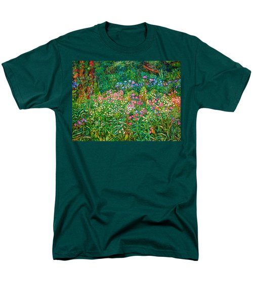Men's T-Shirt  (Regular Fit) featuring the painting Wildflowers Near Fancy Gap by Kendall Kessler