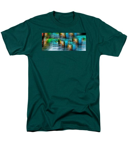 Men's T-Shirt  (Regular Fit) featuring the photograph Windows Into The Blue by Pamela Blizzard