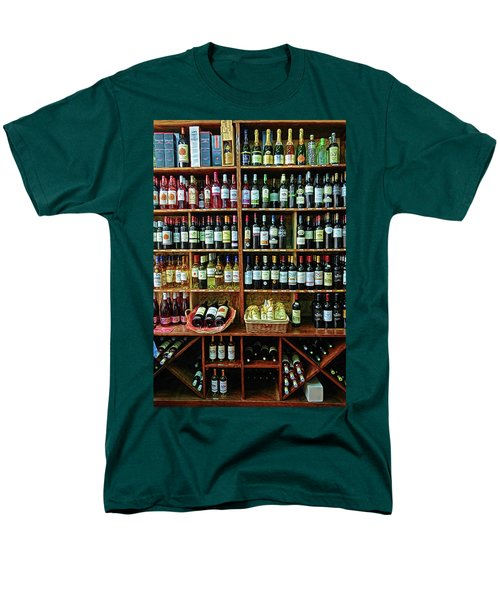 Men's T-Shirt  (Regular Fit) featuring the photograph Wine Store Provence France by Dave Mills