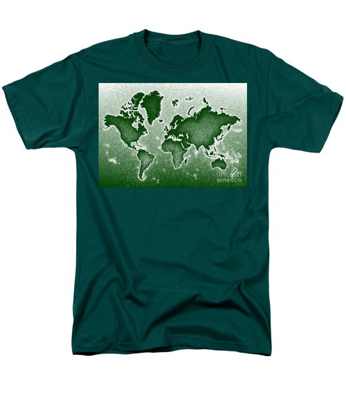 World Map Novo In Green Men's T-Shirt  (Regular Fit) by Eleven Corners