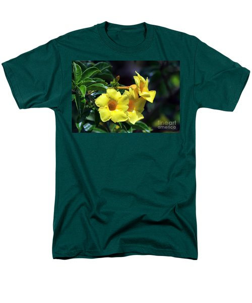 Yellow Allamanda Men's T-Shirt  (Regular Fit) by Teresa Zieba