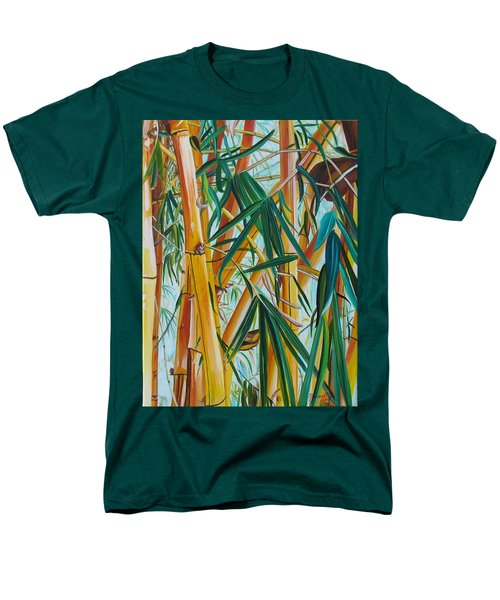 Yellow Bamboo Men's T-Shirt  (Regular Fit) by Marionette Taboniar