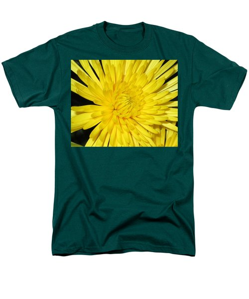 Yellow Flower Closeup Men's T-Shirt  (Regular Fit) by Barbara Yearty