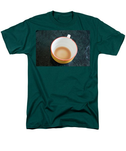 Men's T-Shirt  (Regular Fit) featuring the photograph A Cup With The Remains Of Tea On A Green Table by Ashish Agarwal