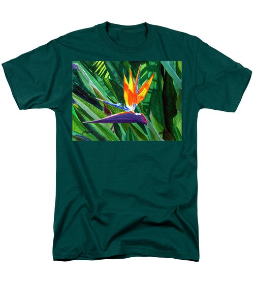 Bird-of-paradise Men's T-Shirt  (Regular Fit) by Mike Robles
