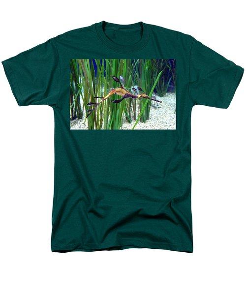 Men's T-Shirt  (Regular Fit) featuring the photograph Black Dragon Seahorse by Carla Parris