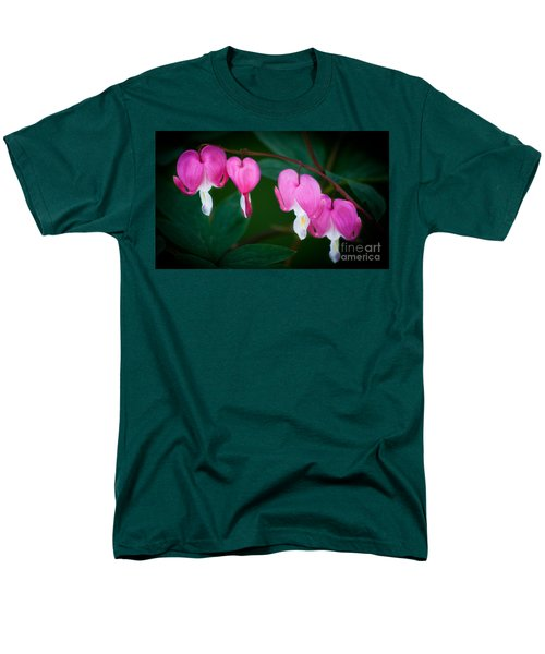 Men's T-Shirt  (Regular Fit) featuring the photograph Bleeding Hearts 002 by Larry Carr