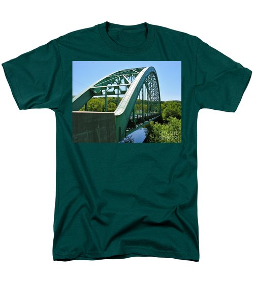 Men's T-Shirt  (Regular Fit) featuring the photograph Bridge Spanning Connecticut River by Sherman Perry