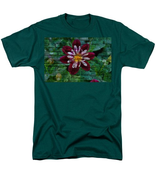 Crazy Flower Over Brick Men's T-Shirt  (Regular Fit) by Eric Liller