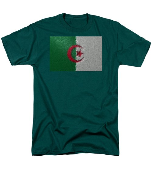 Men's T-Shirt  (Regular Fit) featuring the digital art Flag Of Algeria by Jeff Iverson