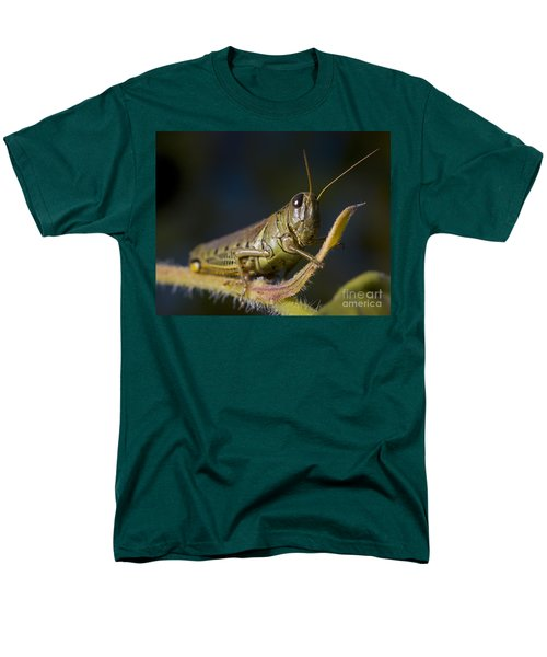 Men's T-Shirt  (Regular Fit) featuring the photograph Grasshopper by Art Whitton