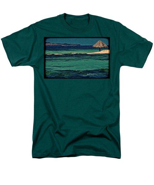 Men's T-Shirt  (Regular Fit) featuring the photograph Grenadines Umbrella by Don Schwartz