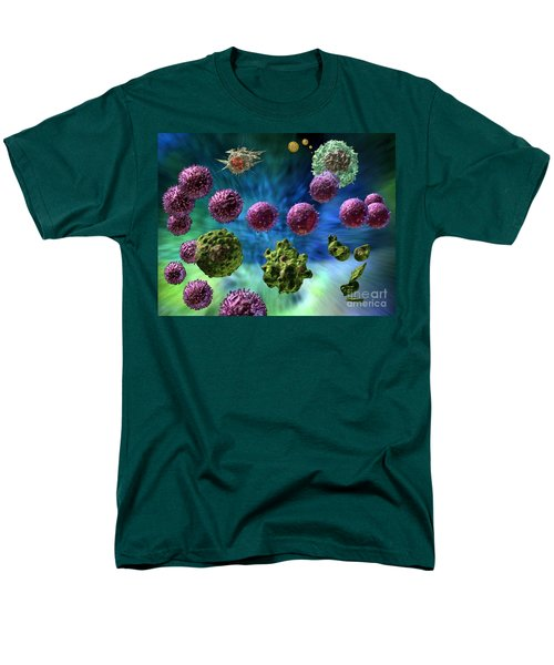 Men's T-Shirt  (Regular Fit) featuring the digital art Immune Response Cytotoxic 1 by Russell Kightley