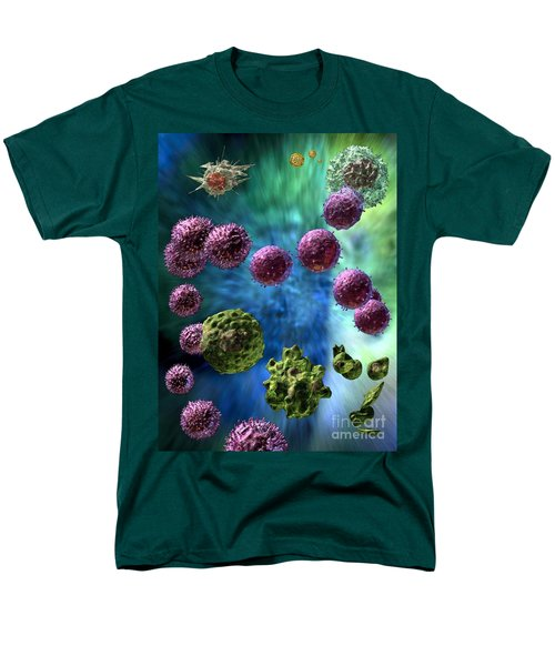 Men's T-Shirt  (Regular Fit) featuring the digital art Immune Response Cytotoxic 3 by Russell Kightley