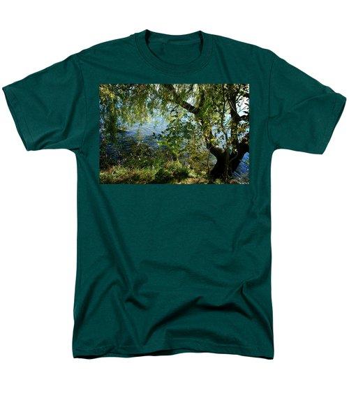 Lakeside Tree Men's T-Shirt  (Regular Fit) by Kathleen Grace