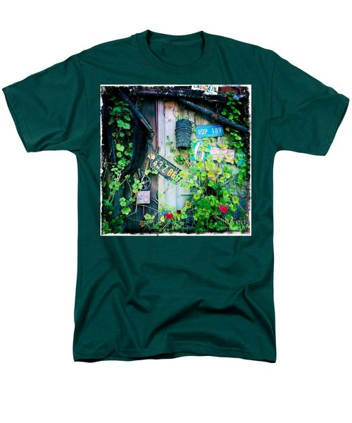 Men's T-Shirt  (Regular Fit) featuring the photograph License Plate Wall by Nina Prommer
