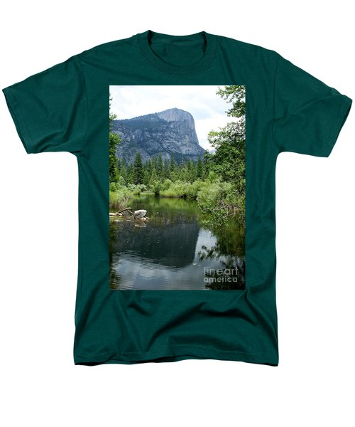 Mirror Lake Men's T-Shirt  (Regular Fit) by Henrik Lehnerer