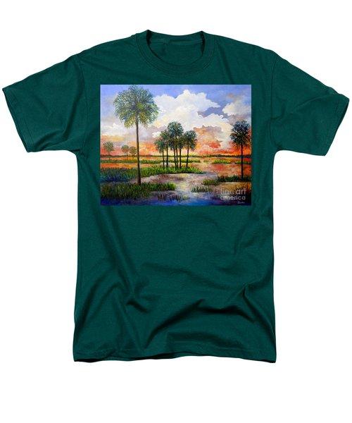 Myakka Sunset Men's T-Shirt  (Regular Fit) by Lou Ann Bagnall