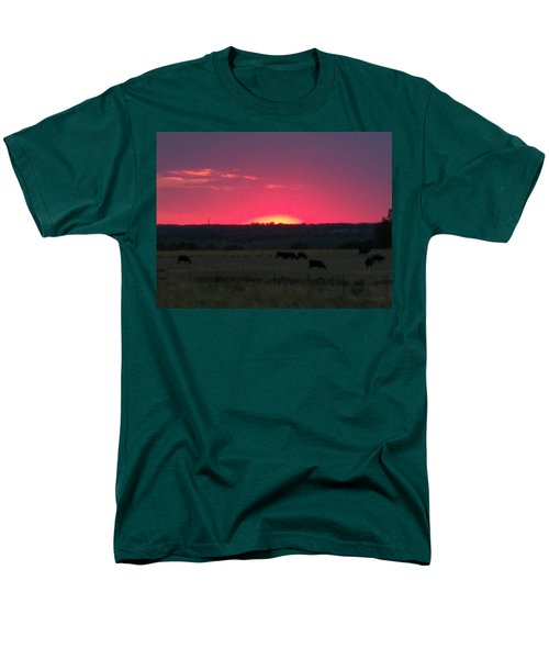 Okie Sunset Men's T-Shirt  (Regular Fit) by Adam Cornelison