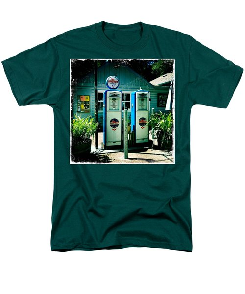 Men's T-Shirt  (Regular Fit) featuring the photograph Old Fashioned Gas Station by Nina Prommer