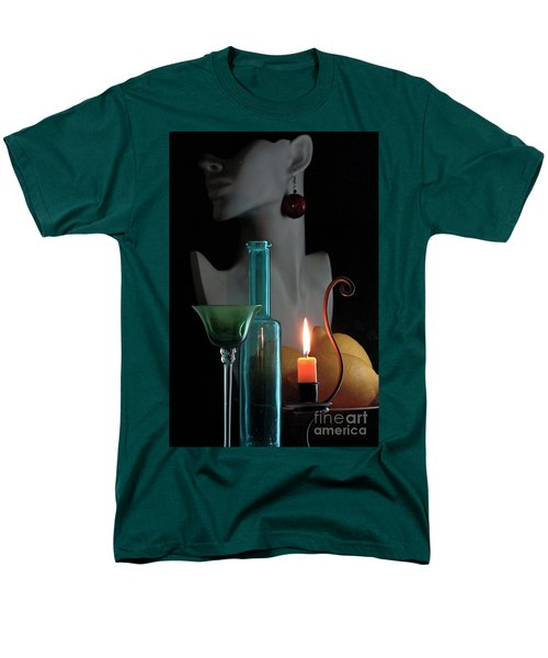 Men's T-Shirt  (Regular Fit) featuring the photograph Orange Candle by Elf Evans