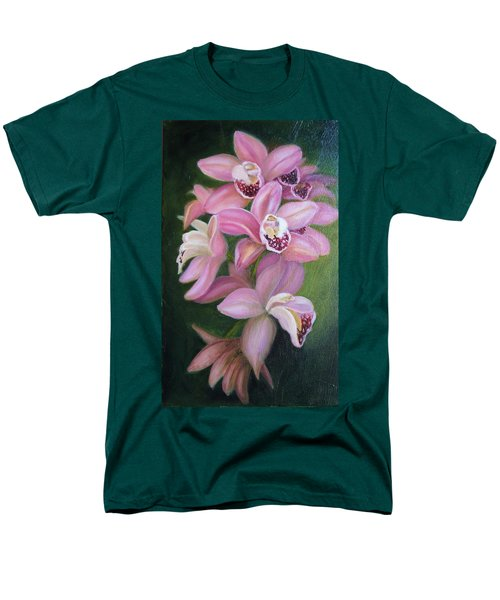 Men's T-Shirt  (Regular Fit) featuring the painting Orchids by Marlyn Boyd