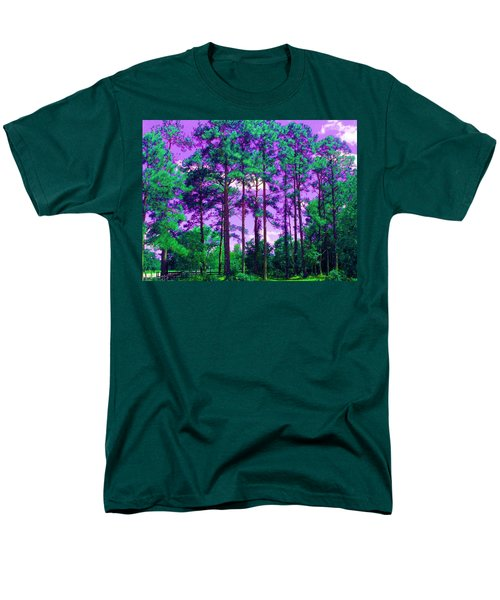 Men's T-Shirt  (Regular Fit) featuring the photograph Purple Sky by George Pedro