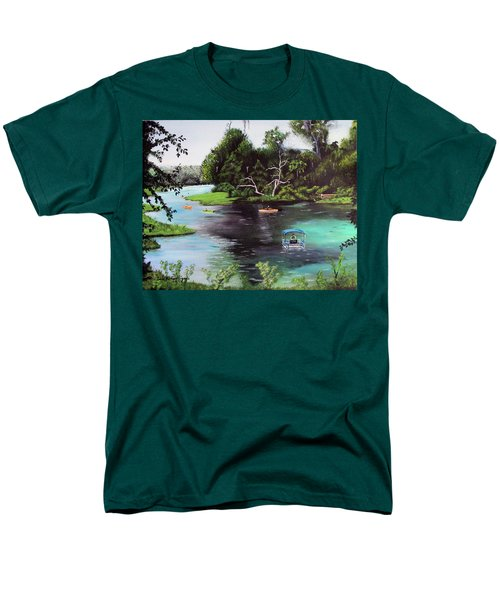 Rainbow Springs In Florida Men's T-Shirt  (Regular Fit) by Luis F Rodriguez