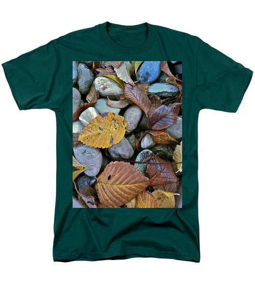 Men's T-Shirt  (Regular Fit) featuring the photograph Rocks And Leaves by Bill Owen