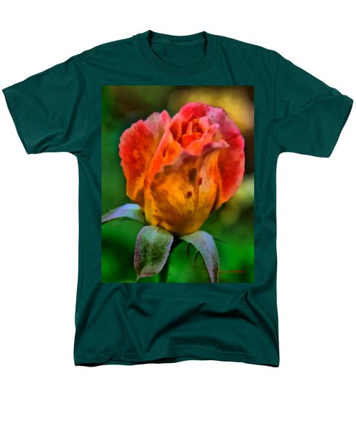 Men's T-Shirt  (Regular Fit) featuring the painting Rose by Lynne Jenkins