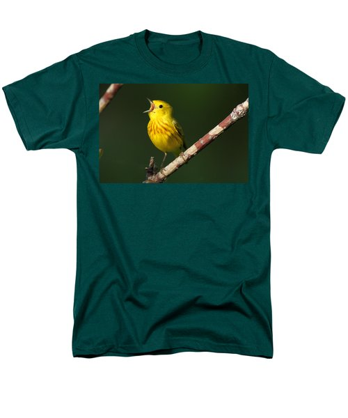 Singing Yellow Warbler Men's T-Shirt  (Regular Fit) by Doug Lloyd