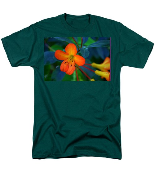 Men's T-Shirt  (Regular Fit) featuring the photograph Small Orange Flower by Tikvah's Hope