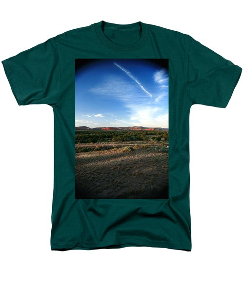 Men's T-Shirt  (Regular Fit) featuring the photograph Somewhere Off The Interstate In New Mexico by Lon Casler Bixby