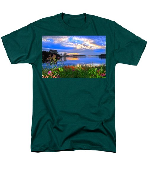 Men's T-Shirt  (Regular Fit) featuring the photograph Summertime Walk Around Lake  by Randall Branham
