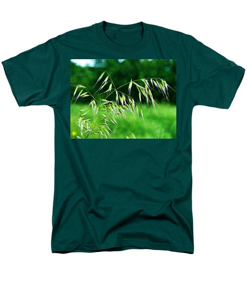 Men's T-Shirt  (Regular Fit) featuring the photograph The Grass Seeds by Steve Taylor