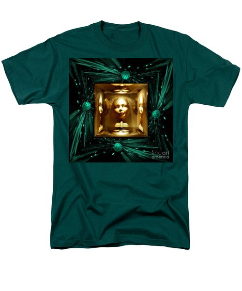 Men's T-Shirt  (Regular Fit) featuring the digital art Thoughts Mirror Box by Rosa Cobos