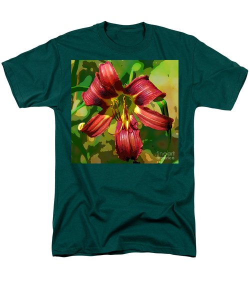 Tiger Lily Men's T-Shirt  (Regular Fit) by Cindy Manero