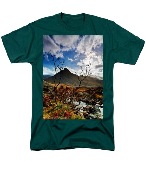 Men's T-Shirt  (Regular Fit) featuring the photograph Tryfan And Tree by Beverly Cash