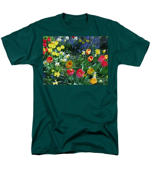 Men's T-Shirt  (Regular Fit) featuring the photograph Tulips Dancing by Rory Sagner