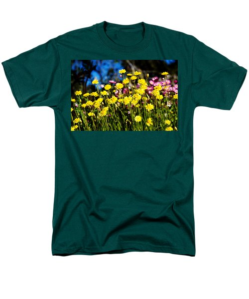 Yellow Flowers Men's T-Shirt  (Regular Fit) by Yew Kwang