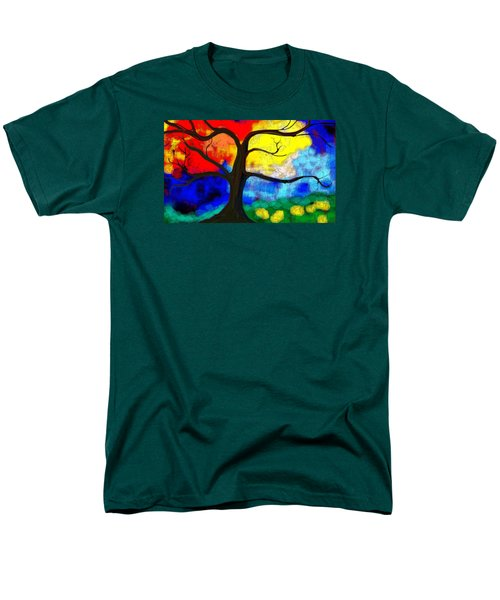 Men's T-Shirt  (Regular Fit) featuring the painting  Before The Bloom by Patricia Arroyo