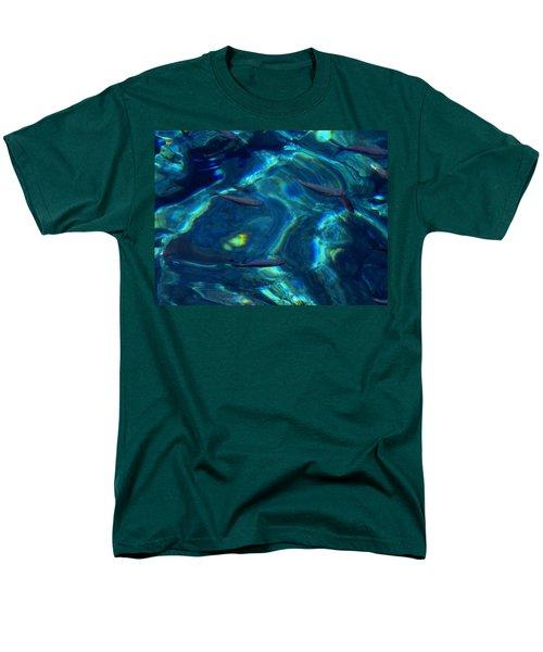 Men's T-Shirt  (Regular Fit) featuring the photograph  Santorini  Ocean Water Reflections Greece by Colette V Hera  Guggenheim