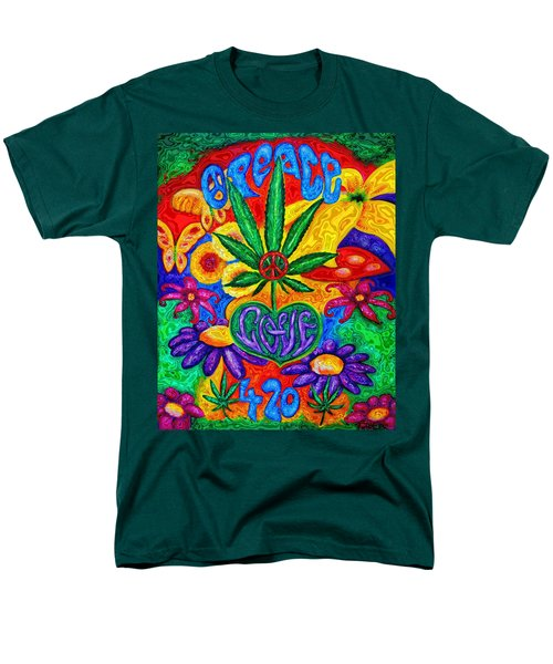 Love And Peace Men's T-Shirt  (Regular Fit) by Diana Haronis