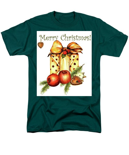 Men's T-Shirt  (Regular Fit) featuring the painting Merry Christmas by Heidi Kriel