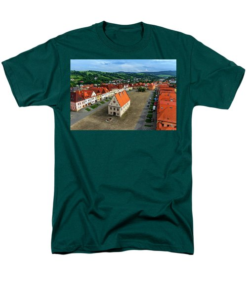 Old Town Square In Bardejov, Slovakia Men's T-Shirt  (Regular Fit) by Elenarts - Elena Duvernay photo