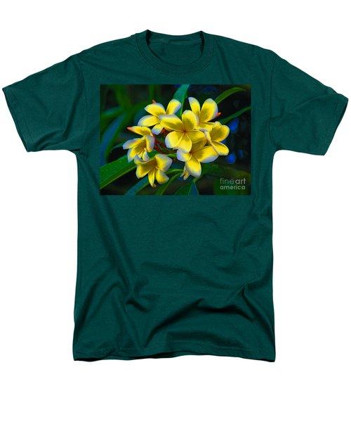 Men's T-Shirt  (Regular Fit) featuring the photograph 1- Plumeria Perfection by Joseph Keane