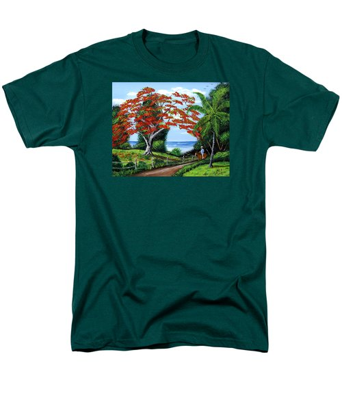 Tropical Landscape Men's T-Shirt  (Regular Fit) by Luis F Rodriguez
