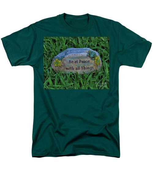 Men's T-Shirt  (Regular Fit) featuring the photograph 2- Be At Peace by Joseph Keane